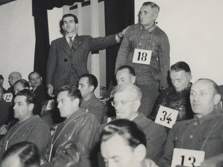 Angeklagte im Dachauer Hauptprozess.