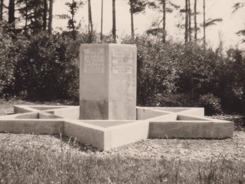KZ-Grab- und -Gedenkstätte Seestall im Jahr 1951.
