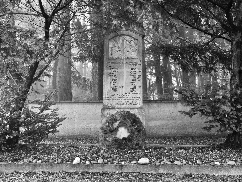Gedenkstein zum Gedenken an KZ-Opfer des KZ-Lagers Kaufering X.