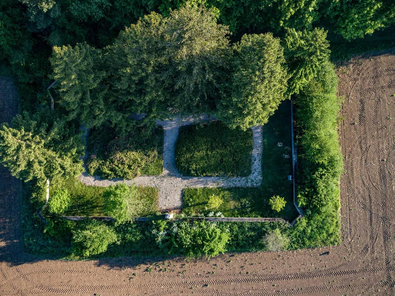 Grundriss des KZ-Friedhofs Hurlach.