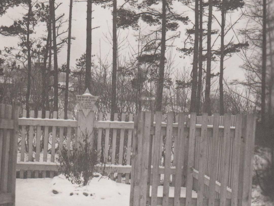 KZ-Grab- und Gedenkstätte um 1950.
