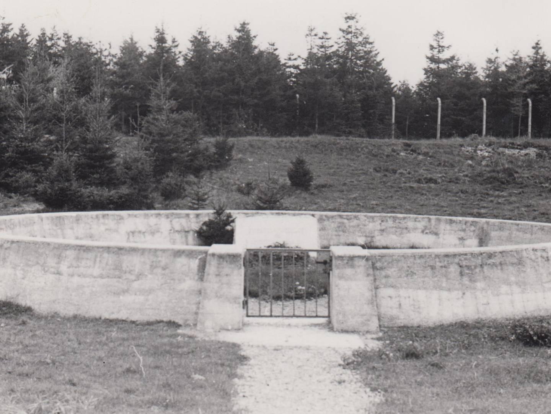 KZ-Friedhof an der heutigen Siemensstraße in Landsberg am Lech.