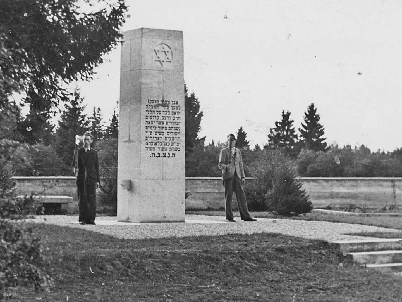 KZ-Friedhof nach Fertigstellung 1950.