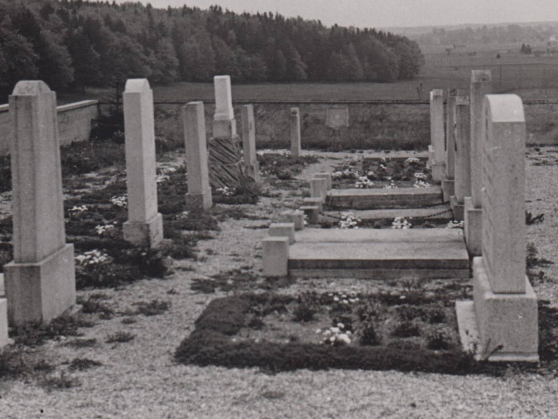 KZ-Friedhof St. Ottilien in den 1950er-Jahren.
