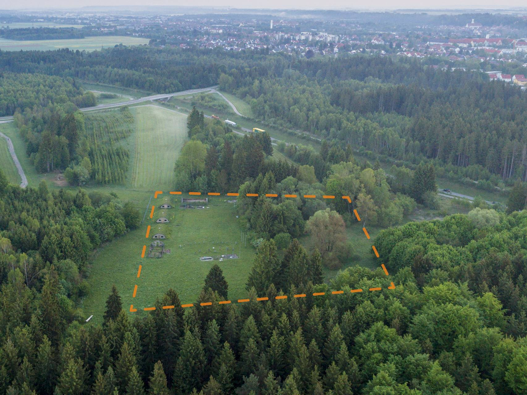 Das Gelände des ehemaligen KZ-Lagers Kaufering VII heute.
