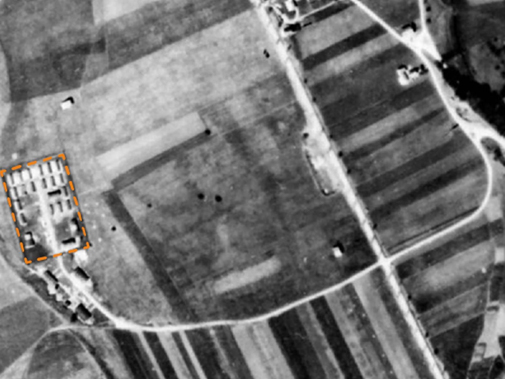 KZ-Außenlager Kaufering VIII westlich von Seestall.