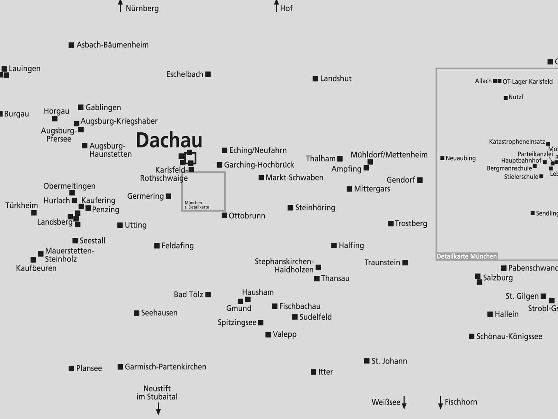KZ Dachau mit ca. 140 KZ-Außenlagern.