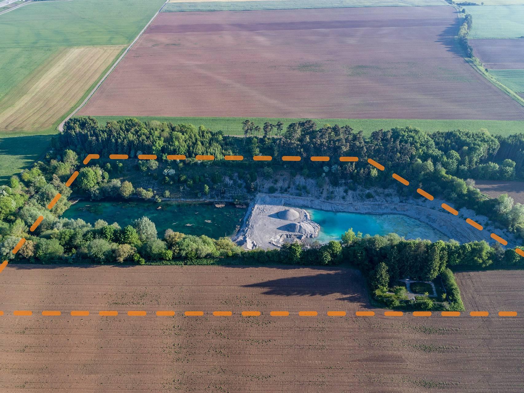 KZ-Friedhof Hurlach und Kiesgrube auf dem Gelände des ehemaligen KZ-Lagers Kaufering IV.