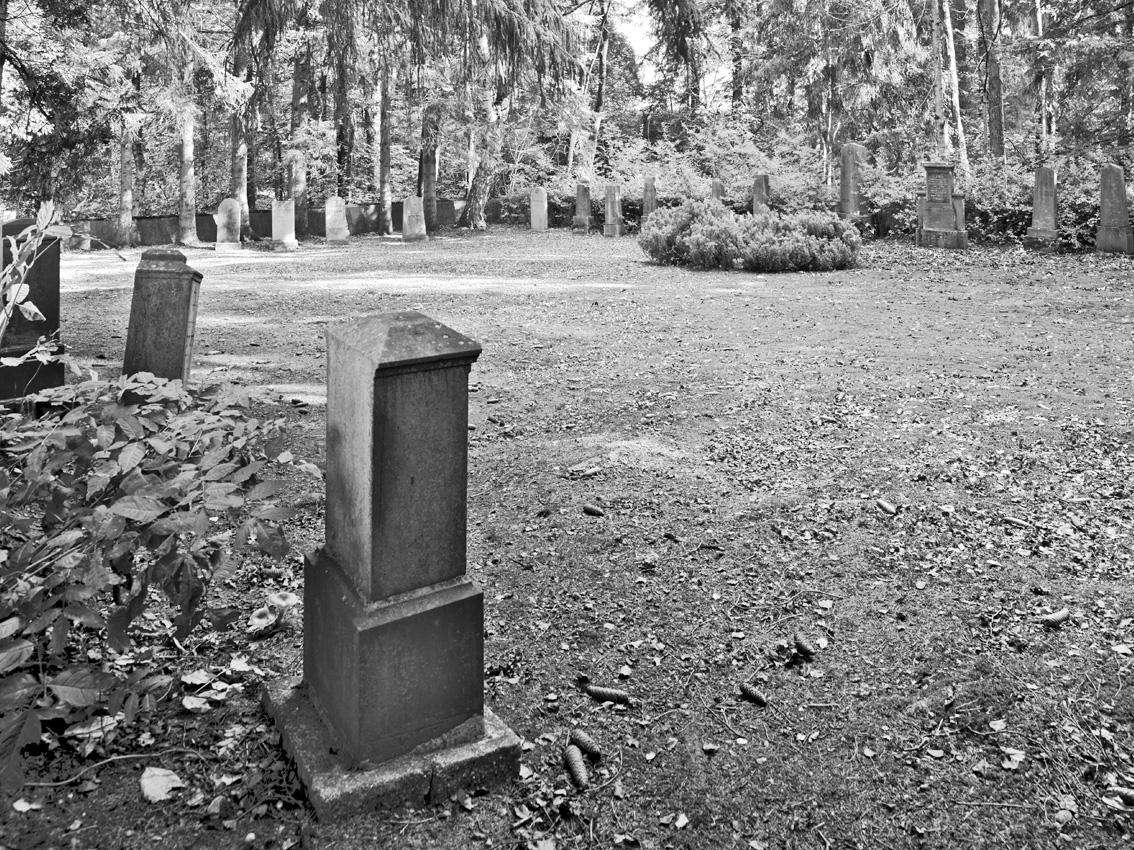 KZ-Friedhof, auf dem ehemalige KZ-Häftlinge und jüdische Gemeindemitglieder bestattet wurden.